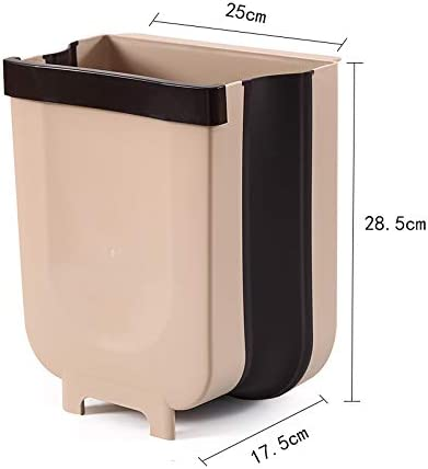 Bedrooms Kitchen Counter Trash Can Collapsible Garbage Can for Bathrooms Trucks and RVs. Cars Hanging Trash Can for Kitchen Cabinet Door 3 Rolls of Plastic Liners Included