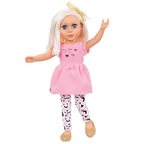 Heart Glitter Blue (Glitter Girls Dolls by Battat - Elula 14-inch Poseable Fashion Doll - Dolls for Girls Age 3 and Up)