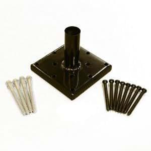 6x6 Post Anchor - Primus - Kit - Black and Galvanized Fasteners