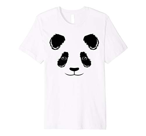 Cool Funny Panda Face Shirt Halloween Dress-Up Costume -