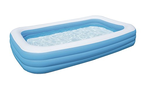 Bestway  Piscine Gonflable Familiale Bleue Rectangulaire  X