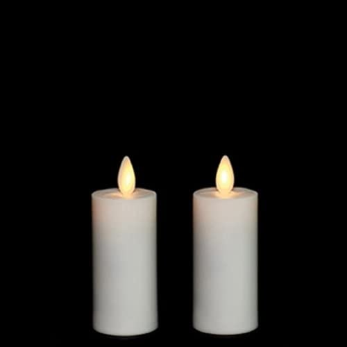 Liown Moving Flame Votives Set of Two with Timer and Remote Ready