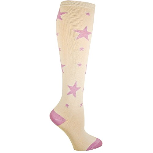 RSG Hosiery Knee High Socks For Teens & Women Solids & Patterns (Purple Stars) (Wicked Witch Socks)