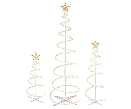Set of 3 Lighted Spiral -Christmas- Trees - 3 Ft 4 Ft and 6 - Amazon.com: Set Of 3 Lighted Spiral -Christmas- Trees - 3 Ft 4 Ft