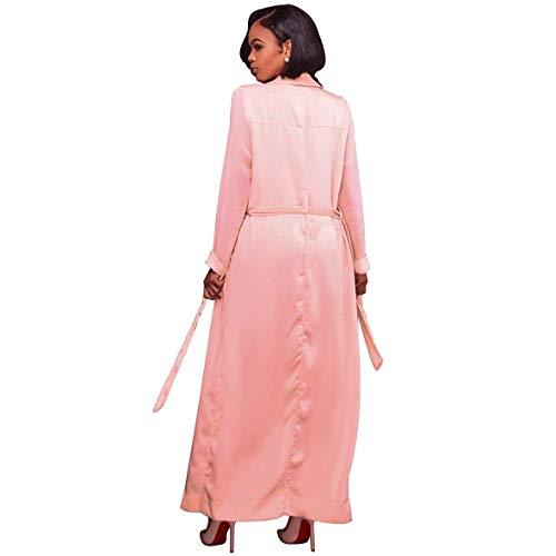 Manga Larga Otoño Elegante Con Color Primavera Rose Outerwear Fiesta Cw00qvgtx