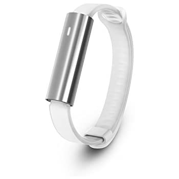 Misfit Ray - Fitness + Sleep Tracker with White Sport Band (Stainless Steel)