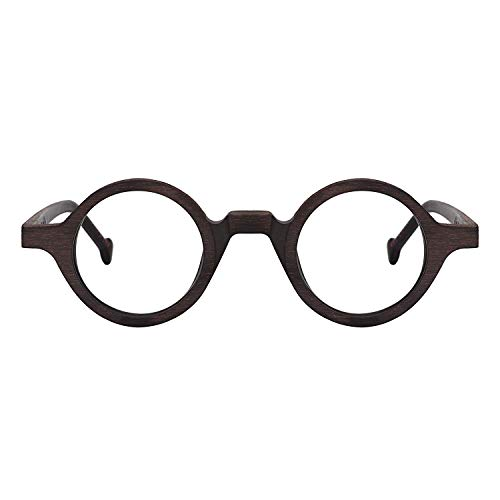 Unisex Eyeglass Frame - Zeelool Unisex Acetate Vintage Small Round Eyeglasses Frame Arale FA0176-03 (Burnt Umber)