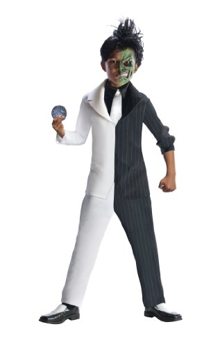 Rubies DC Super Villains Two Face Costume, Child Large (Harvey Dent Two Face Halloween Costume)