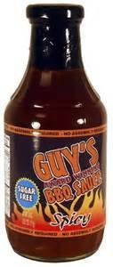 Guys Award Winning Sugar Free Spicy BBQ Sauce, 18 oz (Low Carb Bbq)