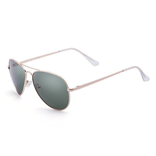 LotFancy Sunglasses for Women (Polarized Gold Frame Green Lens, - Trends Sunglasses Of Latest