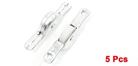 Uxcell Plastic Hardware Top Plate Wheel Roller White a13071900ux0409 5-Piece