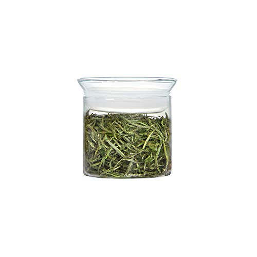 ZENS Glass Canister with Airtight Lid,Small Cookie Candy Jars,Clear Tea Canister for Kitchen Spice,10 oz/300 ML ()