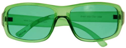 Kid's Children's Junior Color Therapy Glasses - Green