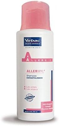 Virbac Allermyl Shampoo para perros y gatos dermatologico-producto para las formas de alergia de perros y gatos, piel irritada o atopica