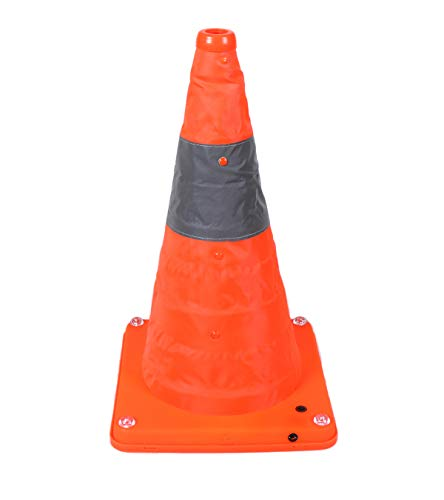 - Collapsible Traffic Cone Road Safety Pop Up Light Up USB Rechargeable Nighttime LED Lights 3 Modes Emergency Orange Reflective Cones 16 Inch