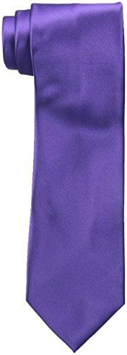 Van Heusen Men's Poly Woven Solid Tie, Purple, One Size ()