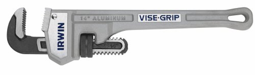 Grip Pipe Wrench (IRWIN VISE-GRIP Tools Cast Aluminum Pipe Wrench, 3-Inch Jaw Capacity, 24-Inch (2074124))