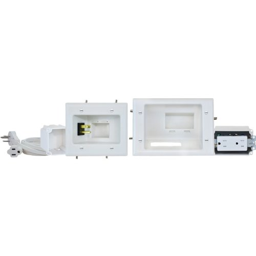DataComm 45-0024-WH Recessed Pro-Power Kit