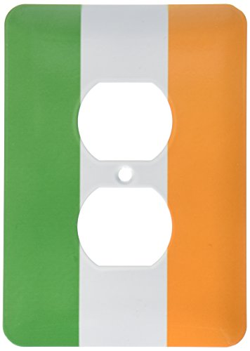 3dRose lsp_158340_6 Flag of Ireland Irish Green White Orange Vertical Stripes United Kingdom UK World Country Souvenir 2 Plug Outlet Cover