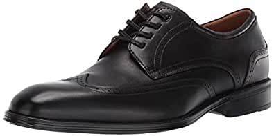 Florsheim Men's Allis Comfortech Wingtip Oxford Dress Shoe, Black, 7 M US