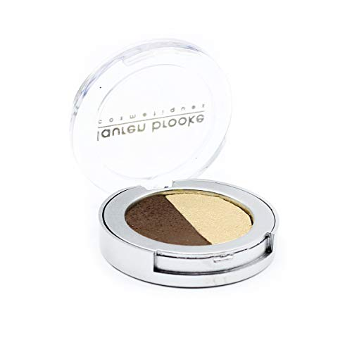 Lauren Brooke Cosmetiques Pressed Eyeshadow Duo, Natural, Organic Makeup (Toffee/Champagne)