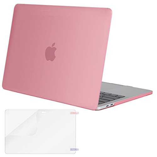Mosiso MacBook Pro 13 Case 2017 & 2016 Release A1706/A1708, Plastic Hard Case Shell Cover with Screen Protector for Newest Macbook Pro 13 Inch with/without Touch Bar and Touch ID, Pink