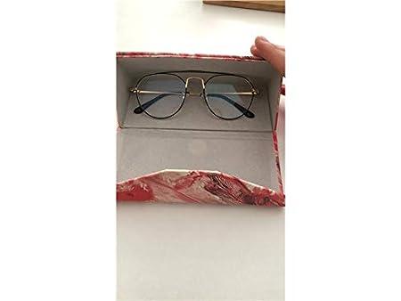 Rosso Colore : Red ADream Mini Casi di Occhiali creativi Occhiali da Sole triangolari Caso Occhiali da Sole rigidi Caso