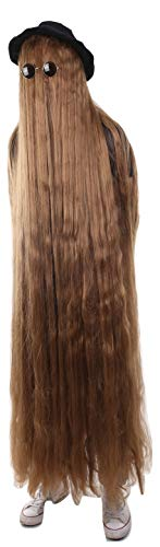 66 Inch Long Creature Wig, Brown (One Size, HM-1133) -