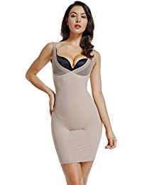 c377119d12 Full Slips for Women Under Dresses Long Cami Slip Shapewear Seamless Body  Shaping Control Slip