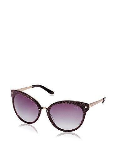 Guess Brûlé à la torche des lunettes de soleil rondes en paillettes noires - GU7352BLKSI-3557 GU7352 D34 57 Gradient Grey