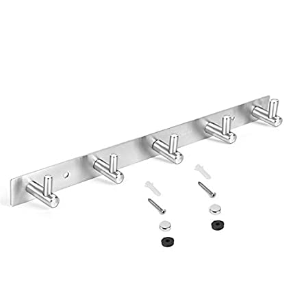 fb3765eb0b3 Amazon.com  Wall Hanger 304 Stainless Hooks Coat Hat Clothes Robe Holder  Hook Rack  Office Products
