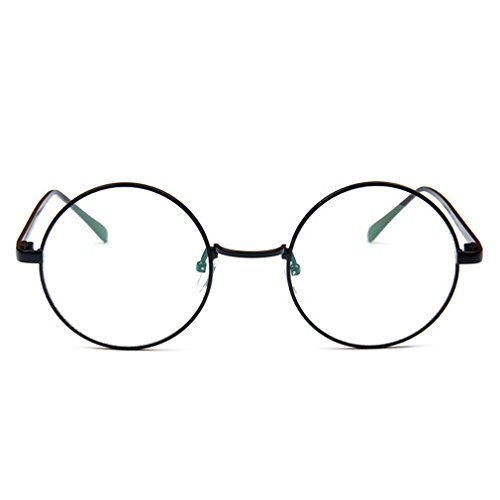 Topcoco Vintage Retro Metal Round Frame Clear Lens Eye Glasses - Online Glasses Costco