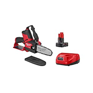 Milwaukee M12 FUEL 12V Li-Ion Brushless Cordless 6-inch HATCHET Pruning Chainsaw Kit with 4.0 Ah Battery