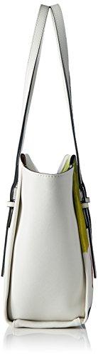 Calvin Klein M4RISSA Print Medium Tote, Sac Femme, Blanc (Powder White), 25x12x42 cm