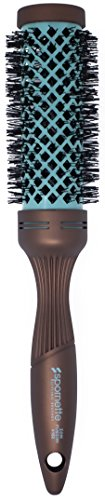 Spornette Ion Fusion 2 inch Ceramic Round Brush with Nylon Bristles and Vented Thermal Barrel (#182)