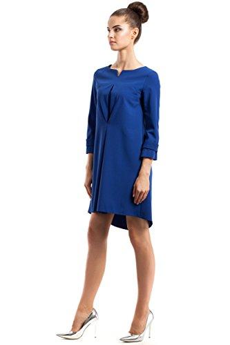 Hinten Kleid Königsblau Vokuhila Saum Abfallendem nach Clea mit IAaxBx7