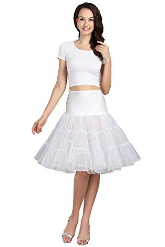 - Wowbridal Women's Women Vintage Short Petticoat Net Underskirt 26