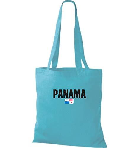 Panamá Países Shirtstown Fútbol Land Tela Yute De Azul Surf Bolsa IICF7q