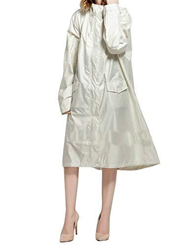 Windbreaker Femmes Capuc Raincoat Ans Veste 20 Rain Poche Parka À De Pluie Beige q4xEwIS