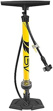 BV Bicycle Ergonomic Bike Floor Pump with Gauge & Smart Valve Head, 160 psi, Automatically Reversible Pres