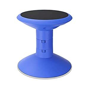 """Storex Wiggle Stool, Adjustable Height 12"""", 14"""", 16"""", or 18"""" for Active Seating in The Classroom, Blue (00301U01C)"""