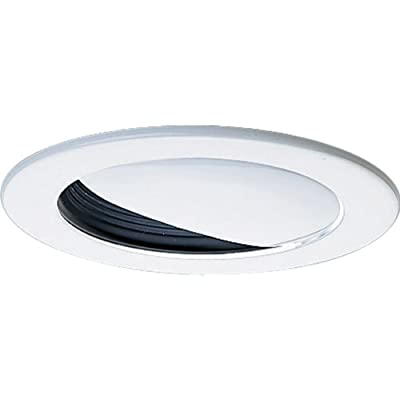 Progress Lighting P8047-31 Wall Washer Ic Trims with 360 Degree Positioning That Tilt 20 Degrees with 5-Inch Outside Diameter, Black