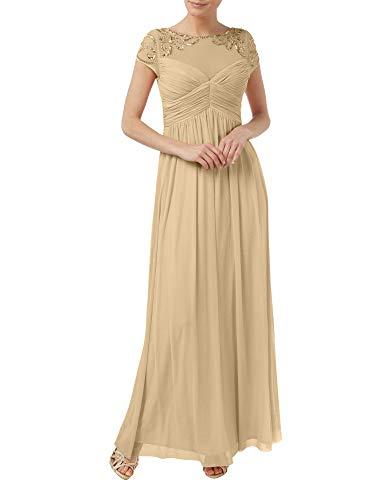 Rock A Chiffon Braut Abendkleider Marie Champagner Brautmutterkleider La Linie Perlen Festlichkleider Langes vqHaw8n0