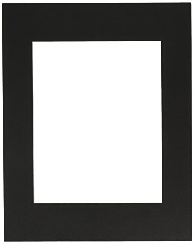 Darice Mats - ARTISTREE 10084041 Mat 11X14 Double Rect, Black