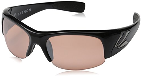 - Kaenon Men's Hard Kore Polarized Shield Sunglasses, Black Frame/Copper C50 Lens, 63 mm