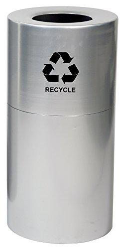 Witt Industries AL18-CLR-R Aluminum 24-Gallon Decorative Recycling Receptacle with Rigid Plastic Liner, Legend