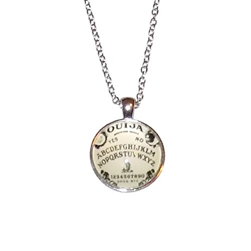 Handcrafted Ouija Board (Ouija Board Necklace – Perfect Jewelry Gift For A Fan of the Supernatural, Ghosts, and Horror)