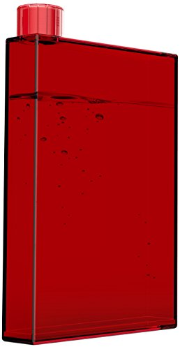 Asobu PB10-9395 Water and Beer E Flask Plastic Bottle, 16 oz, Red