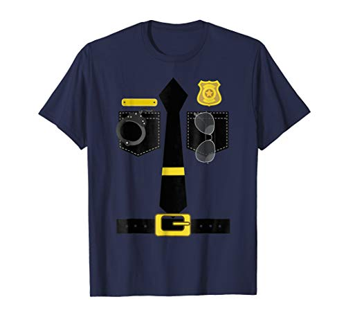 Police Costume Shirt Halloween Policeman Uniform