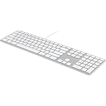 matias wired aluminum keyboard w numeric keypad for mac silver computers accessories. Black Bedroom Furniture Sets. Home Design Ideas